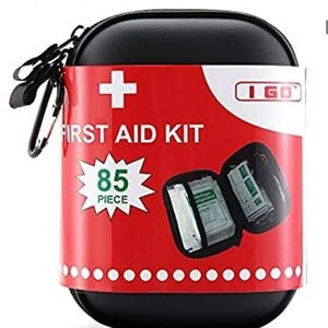 85 Pieces Hard Shell Mini Compact First Aid